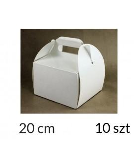 Opakowanie KOSZYCZEK 20x20x12 cm Białe pudełko 10 szt