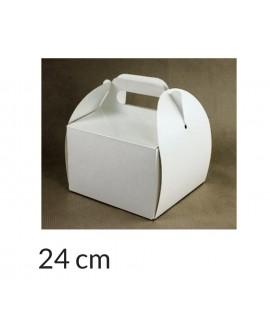 Opakowanie KOSZYCZEK 24x24x12 cm Białe pudełko