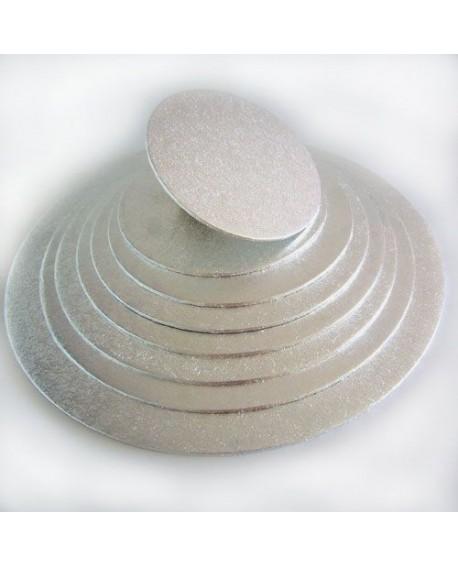 Podkład pod tort srebrny GRUBY 4 mm 30 cm