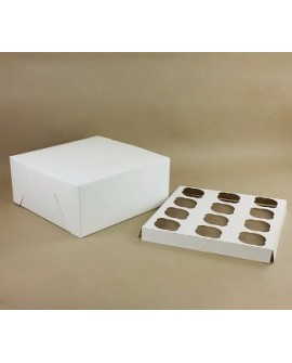 Opakowanie na 12 babeczek BIAŁE pudełko na muffiny, muffinki